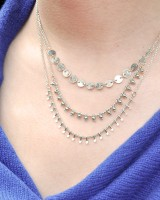 Alegria necklace (silver finished)